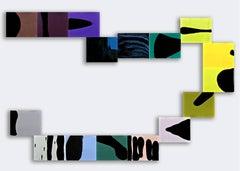 Ellen Hackl Fagan, Alpha, 2011, Enamel, Gesso, Acrylic Paint, 16 8x10 in panels