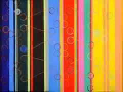 Ellen Hackl Fagan, Molecules of Music, 2014, Enamel, Acrylic, Clay Board
