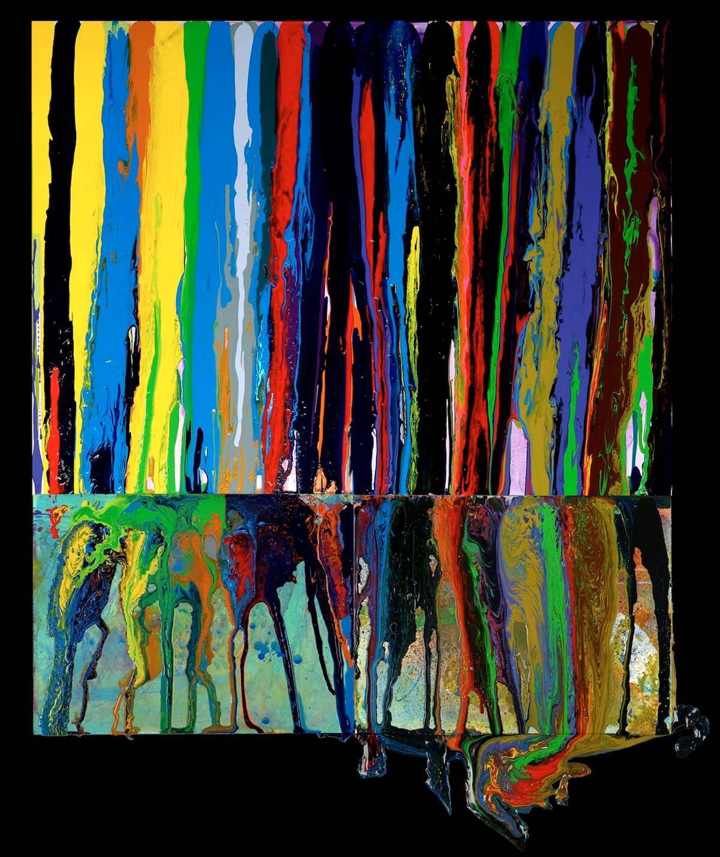 Ellen Hackl Fagan, ColorSoundGrammar_ASOG, 2010, Enamel, Latex, Ink, Graphite