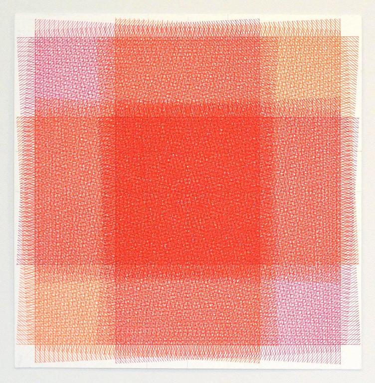 Sara Eichner Abstract Drawing - 32 Layers Pink and Orange