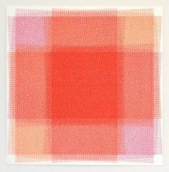 Sara Eichner, 32 Layers Pink and Orange, 2016, Ink, Rag Paper, Pen