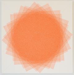 Sara Eichner, Orange_16 Layers, 2016, Ink, Rag Paper, Pen