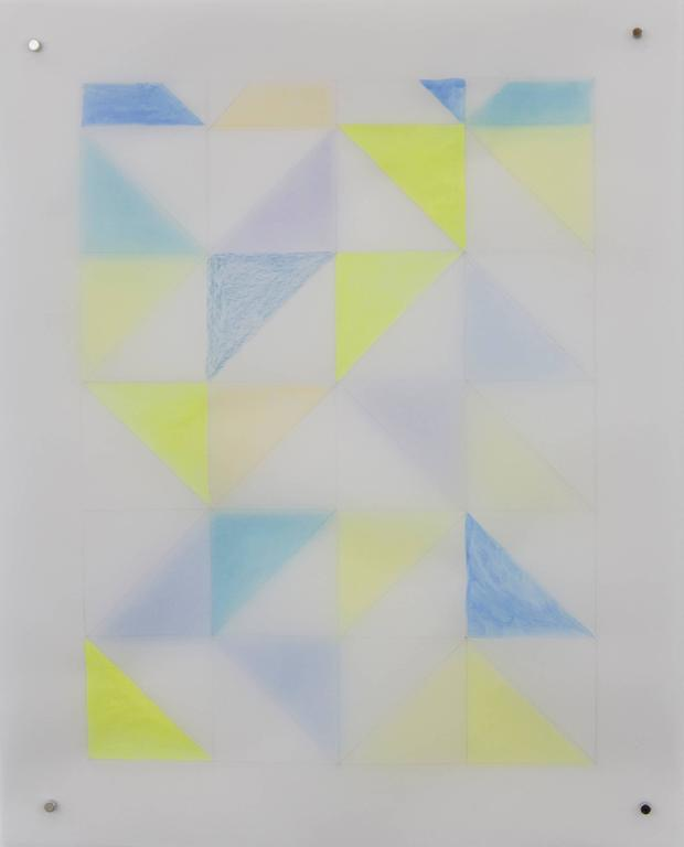 Rearrangeable Drawing - Right Triangle (Blue and Yellow)