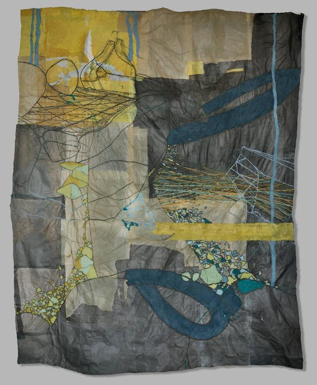 Nancy Cohen Abstract Painting - Rubber River