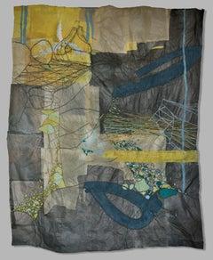 Nancy Cohen, Rubber River, 2015, Handmade Paper, Pigment