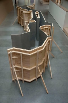 Fritz Horstman, Formwork for the East River, 2017, Wood, Latex Paint, Wood Panel