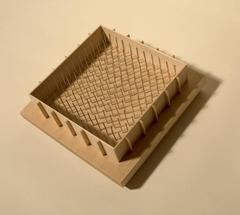 Fritz Horstman, Formwork for a Square Pad, 2015, Steel, Wood, Maple