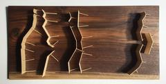 Fritz Horstman, Five Walls With Openings, 2016, Wood, Walnut