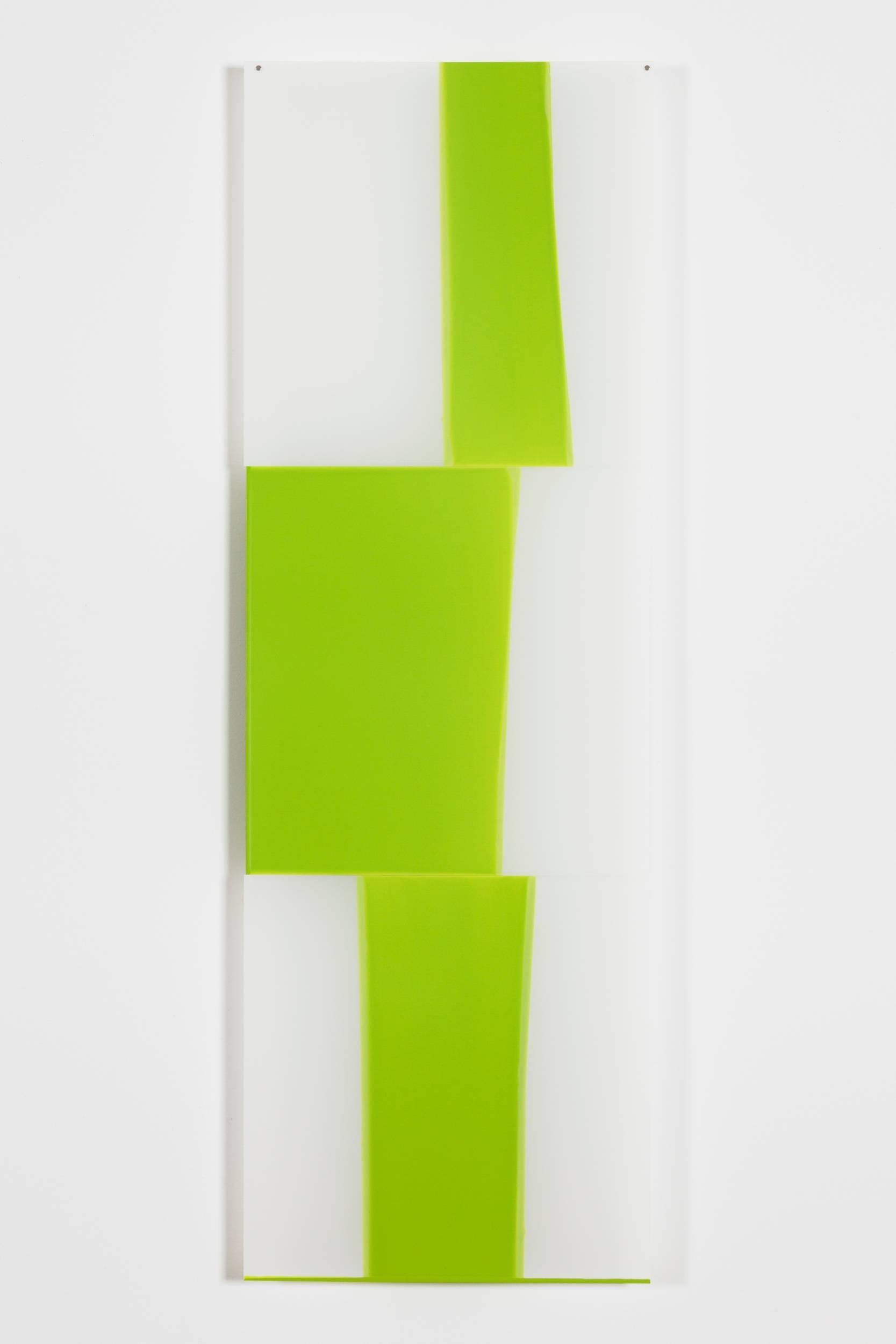 Mary Schiliro, Random Dip 7, acrylic paint on mylar, 36 x 12 in, Abstraction