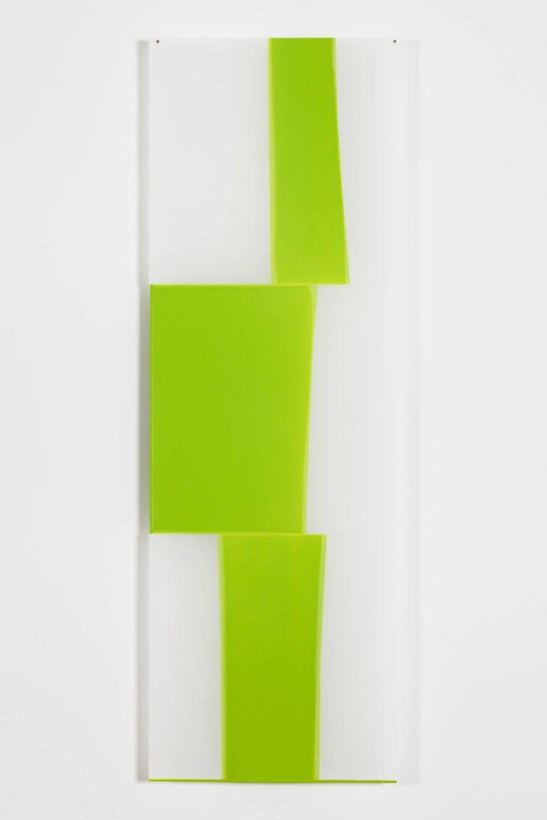Mary Schiliro, Random Dip 7, acrylic paint on mylar, 36 x 12 in, Abstraction - Painting by Mary Schiliro