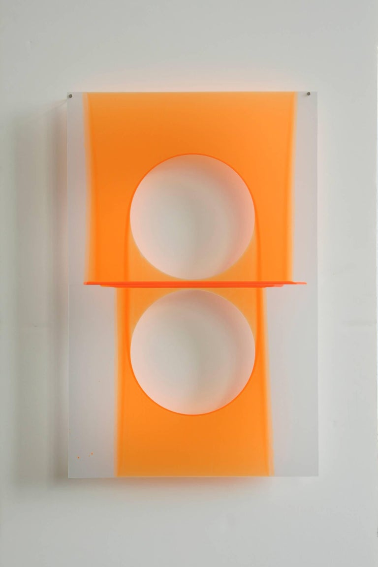 Mary Schiliro, Quick Dip, 2012, Painting, Acrylic on Mylar , Abstract Sculpture - Gray Abstract Painting by Mary Schiliro