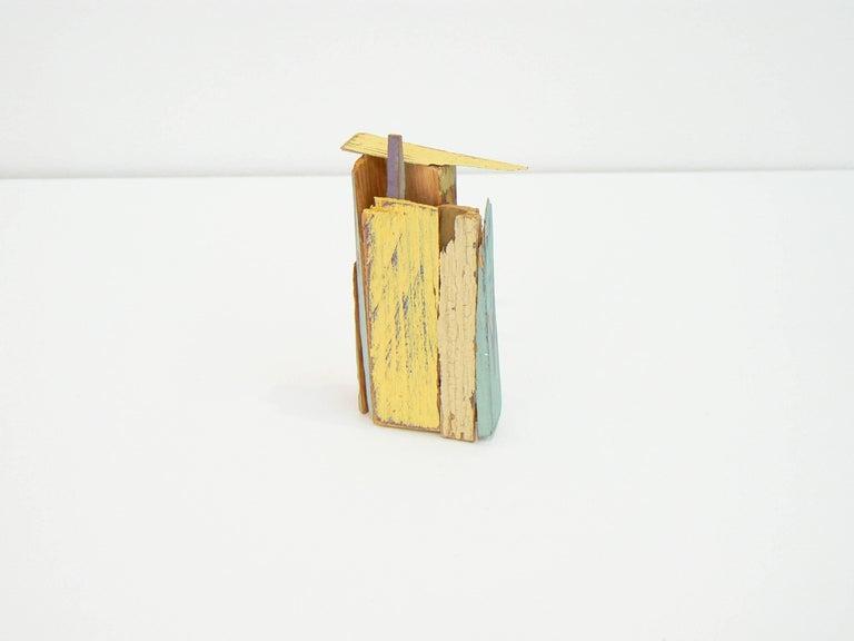 Liz Sweibel, Untitled (Scrapings #5), 2016, Wood, Paint, Found Objects - Sculpture by Liz Sweibel