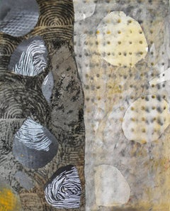 Jane Sangerman, Digit 14, 2015, Found Objects, Wax, Oil Paint, Spray Paint