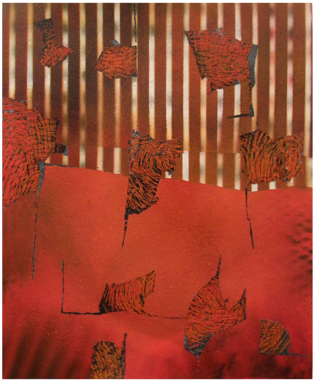 Jane Sangerman, Digit 45, 2016, Paper, Spray Paint, Acrylic Paint. Abstraction.
