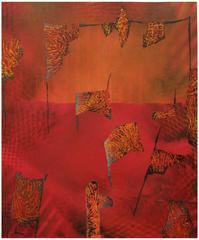 Jane Sangerman, Digit 46, 2016, Paper, Spray Paint, Acrylic Paint