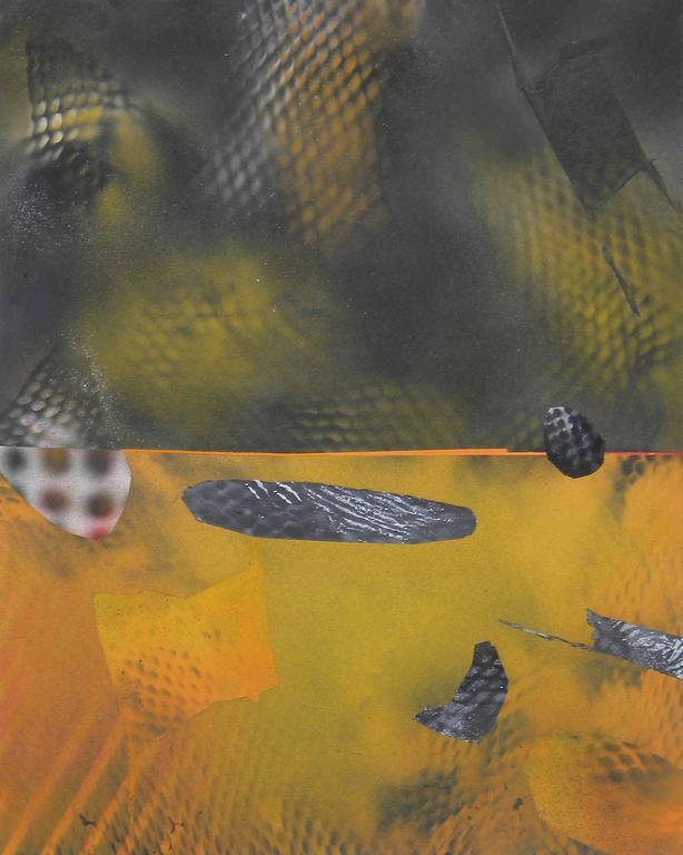 Jane Sangerman, Digit 54, 2016, Spray Paint, Acrylic Paint, Panel