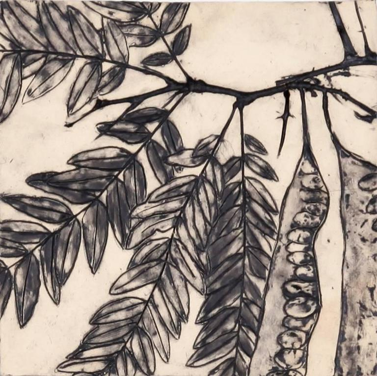 Susan Stair, Honey Locust Tree, 2017, Stoneware, Pigment