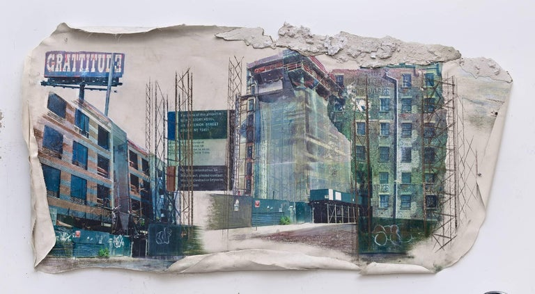 Linda Cunningham,'South Bronx Waterfront Sagas_The New Vision', Canvas, Pastel  - Mixed Media Art by Linda Cunningham