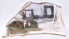 Linda Cunningham, 'Randall's Island Connector', Pastel, Found Objects, Canvas