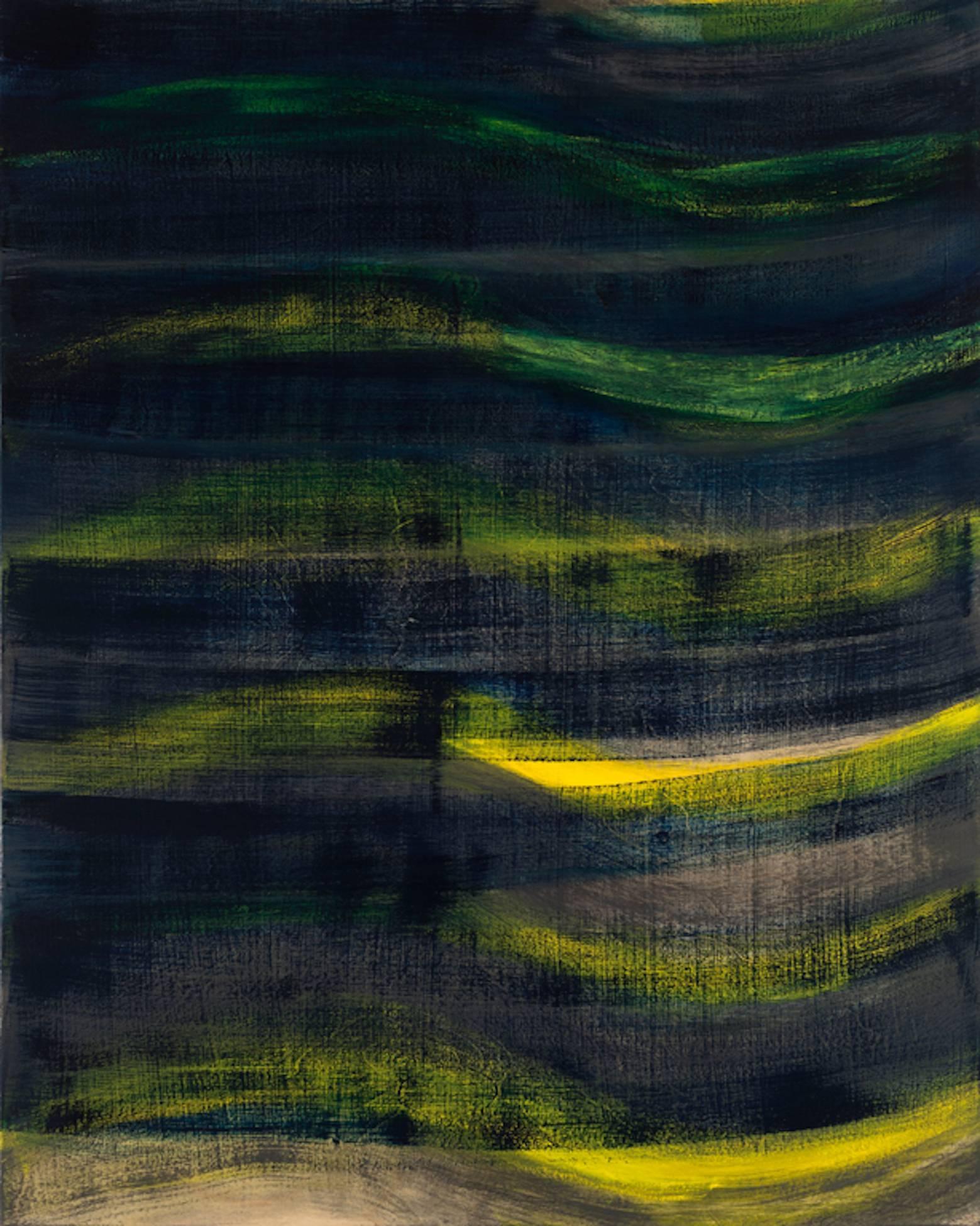 Emily Berger, Audubon, 2014, oil paint, wood panel, Abstraction