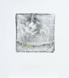 Alyse Rosner, Endgrain 5, Tightrope, 2006, Acrylic Paint, Graphite