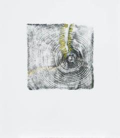 Alyse Rosner, Endgrain 13 (yellow), 2006, Acrylic Paint, Graphite