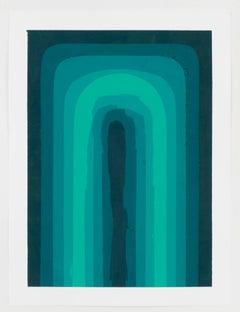 Audrey Stone, Green, Acrylic Paint