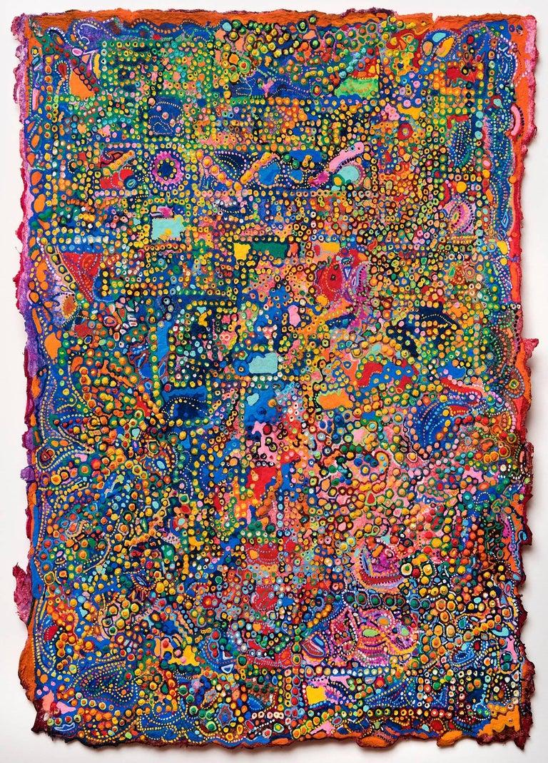David Ambrose, Festival in Delhi, 2017, Gouache, Handmade Paper, Watercolor
