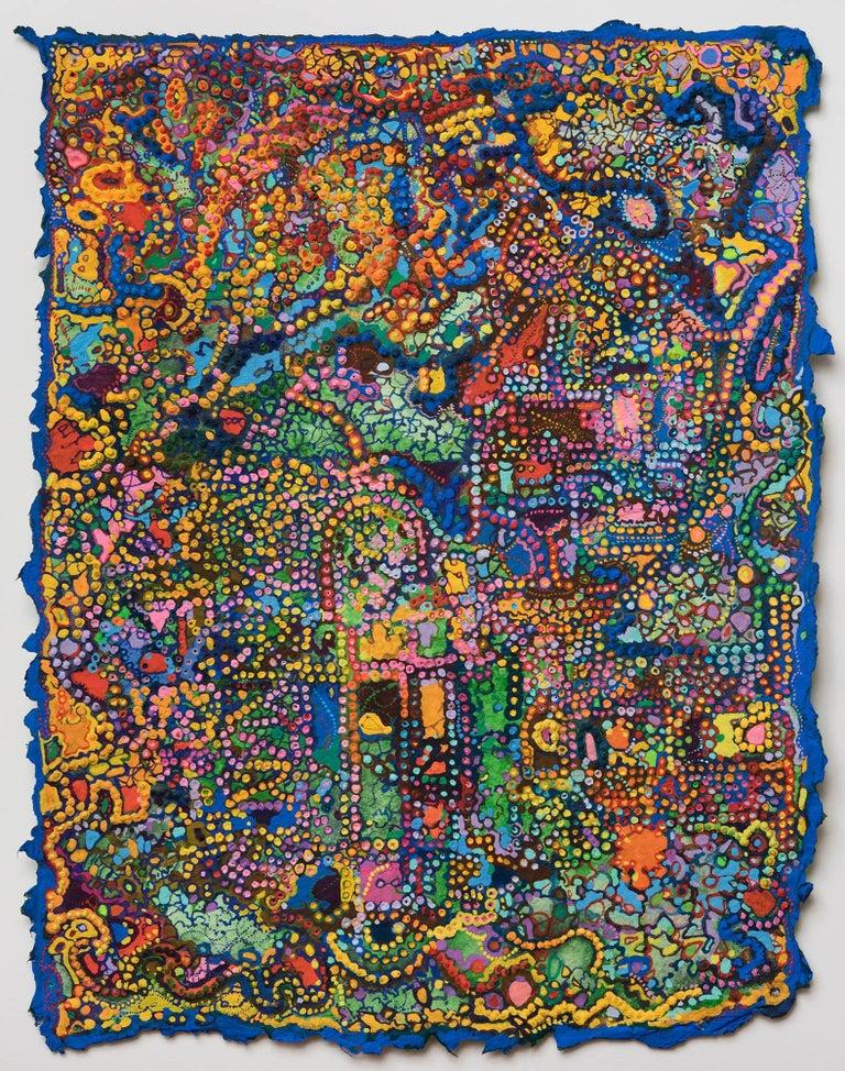 David Ambrose, Structural Congestion, 2017, Gouache, Watercolor, Handmade Paper