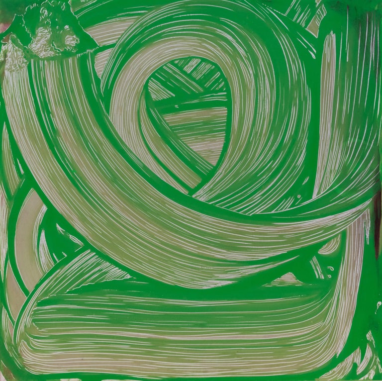 Joseph Fucigna Abstract Painting - Green Swirl