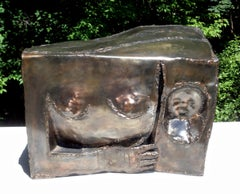 Suzanne Benton, Mother and Child, 1974, Copper, Coated Steel
