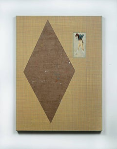 Ken Weathersby, 230 (ncrybl), 2014, Wood Panel, Found Objects, Acrylic Paint