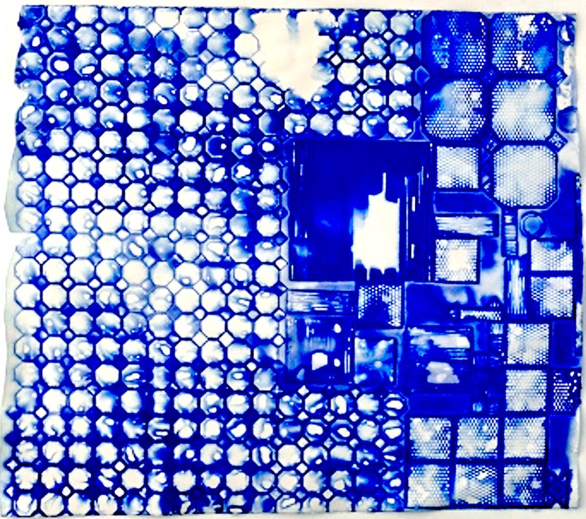 Ellen Hackl Fagan, Seeking the Sound of Cobalt Blue_Delft, 2015, Rag Paper - Art by Ellen Hackl Fagan
