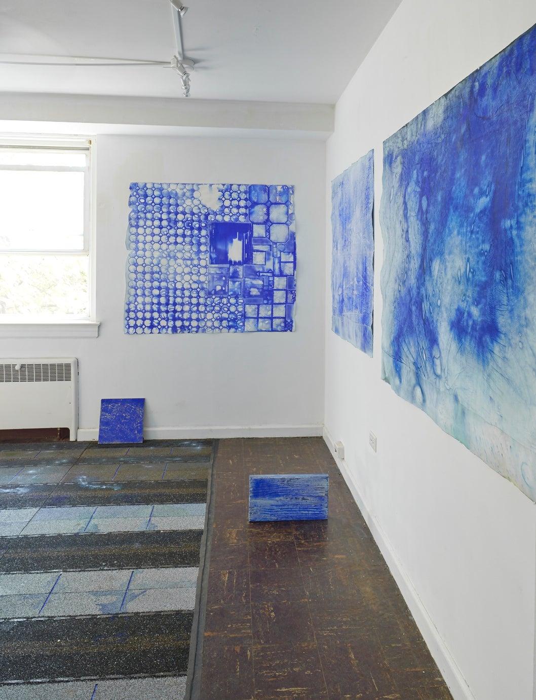 Ellen Hackl Fagan, Seeking the Sound of Cobalt Blue_Delft, 2015, Rag Paper - Abstract Expressionist Art by Ellen Hackl Fagan