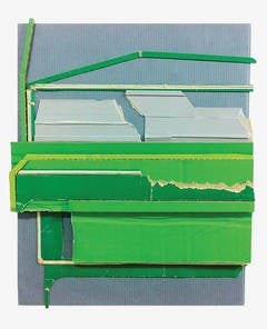 Ryan Sarah Murphy, 'Green Mile', 2014, Found Objects, Cardboard, Laid Paper