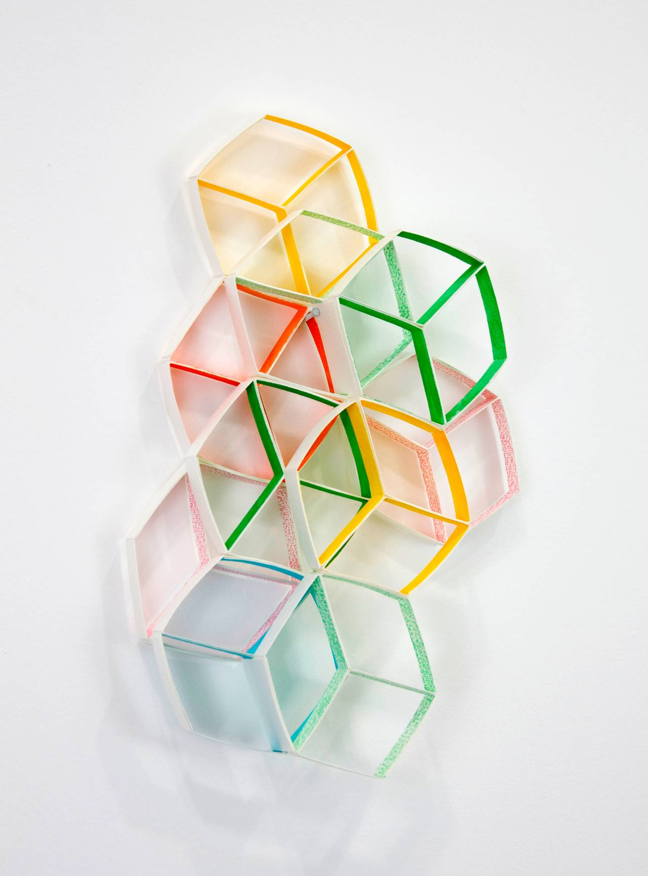 Study #3 for Modular Wall Installation: Hexagon (Cube)