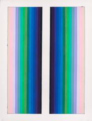 Audrey Stone, Side By Side, 2015, Acrylic Paint, Archival Paper, Pigment