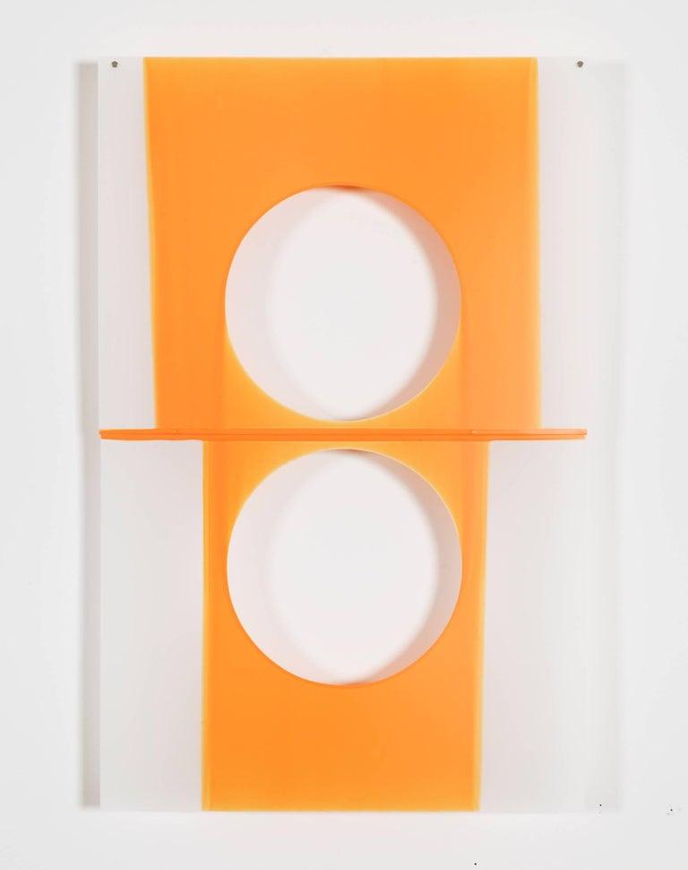 Mary Schiliro, Skinny Dip 1, 2014, Painting, Acrylic on Mylar, Abstraction - Gray Abstract Painting by Mary Schiliro