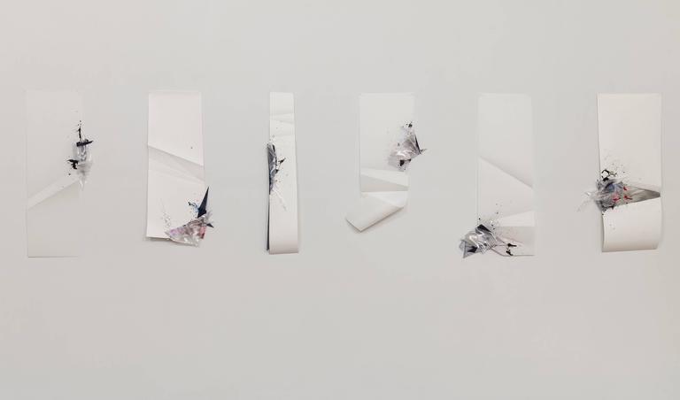 Gelah Penn, 'Serial Polyglot Y, #1, Detail', 2015, Wire, Mylar, Acrylic Paint - Post-Minimalist Art by Gelah Penn