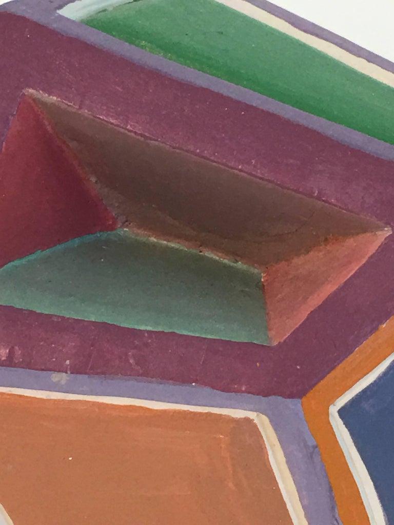 Dorothy Mayhall, Rock Crystal, 1995, Terracotta, Acrylic Paint - Sculpture by Dorothy Mayhall