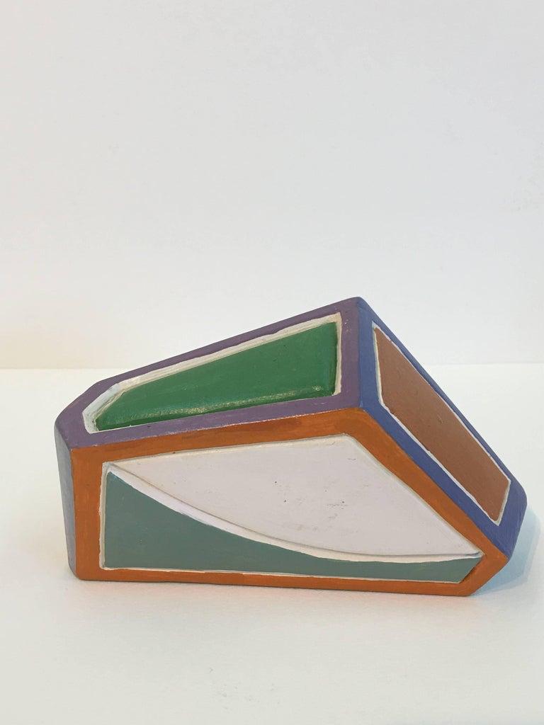 Dorothy Mayhall, Rock Crystal, 1995, Terracotta, Acrylic Paint For Sale 3