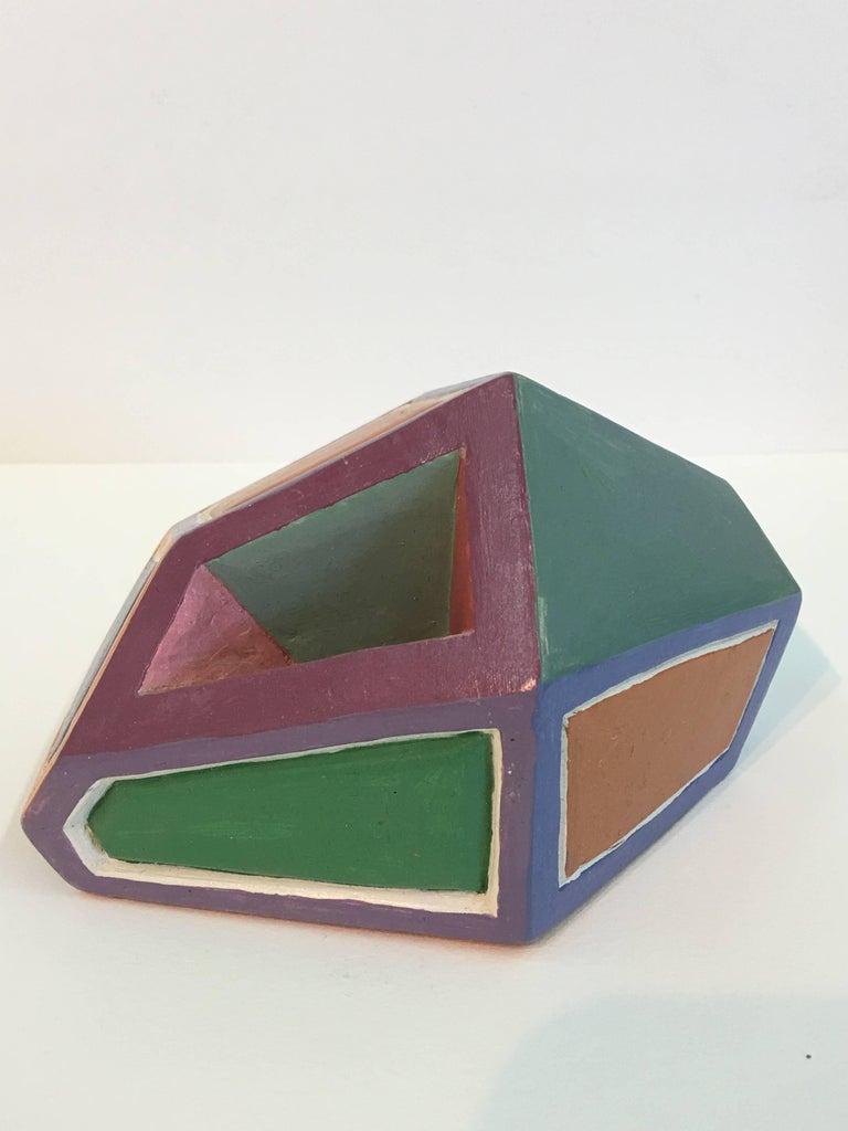 Dorothy Mayhall, Rock Crystal, 1995, Terracotta, Acrylic Paint For Sale 2