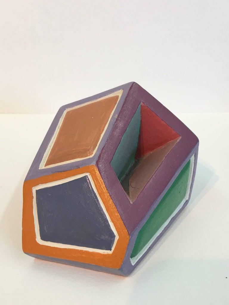Dorothy Mayhall, Rock Crystal, 1995, Terracotta, Acrylic Paint For Sale 4