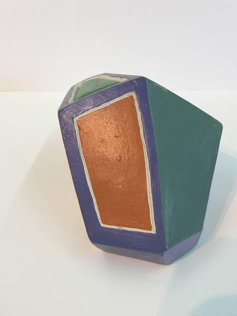 Dorothy Mayhall, Rock Crystal, 1995, Terracotta, Acrylic Paint For Sale 6