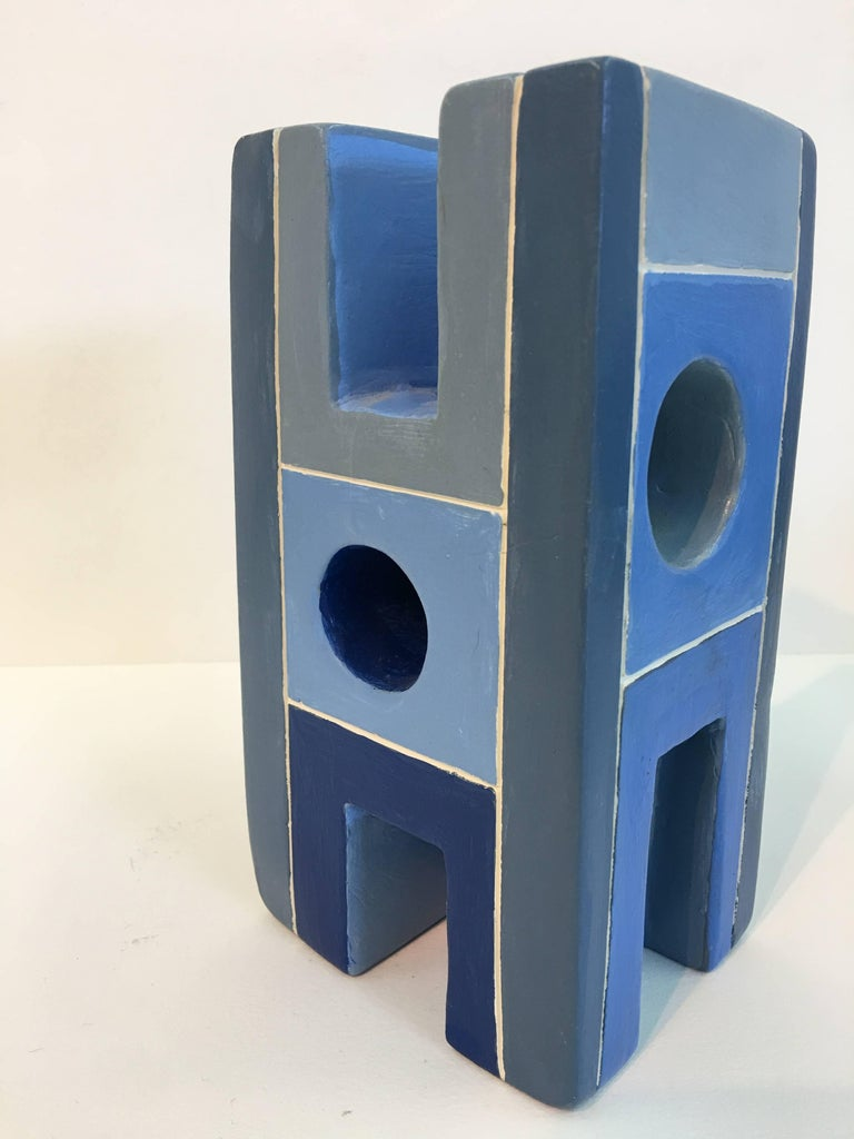 Dorothy Mayhall, Monument 4, 1994, Terracotta, Acrylic Paint For Sale 5