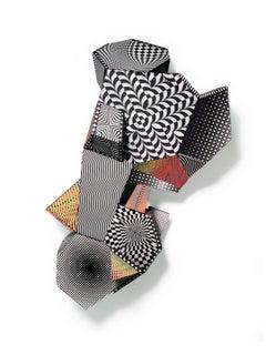 Nancy Baker, Take Five, 2016, paint, paper, digital pigment print