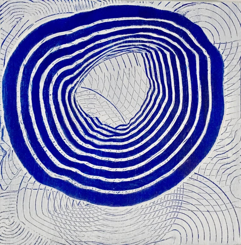 Andra Samelson, Ringing Blue, 2017, Canvas, Acrylic Paint
