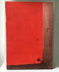 Diane Englander, Red and Wood III, Wood, Mixed Media