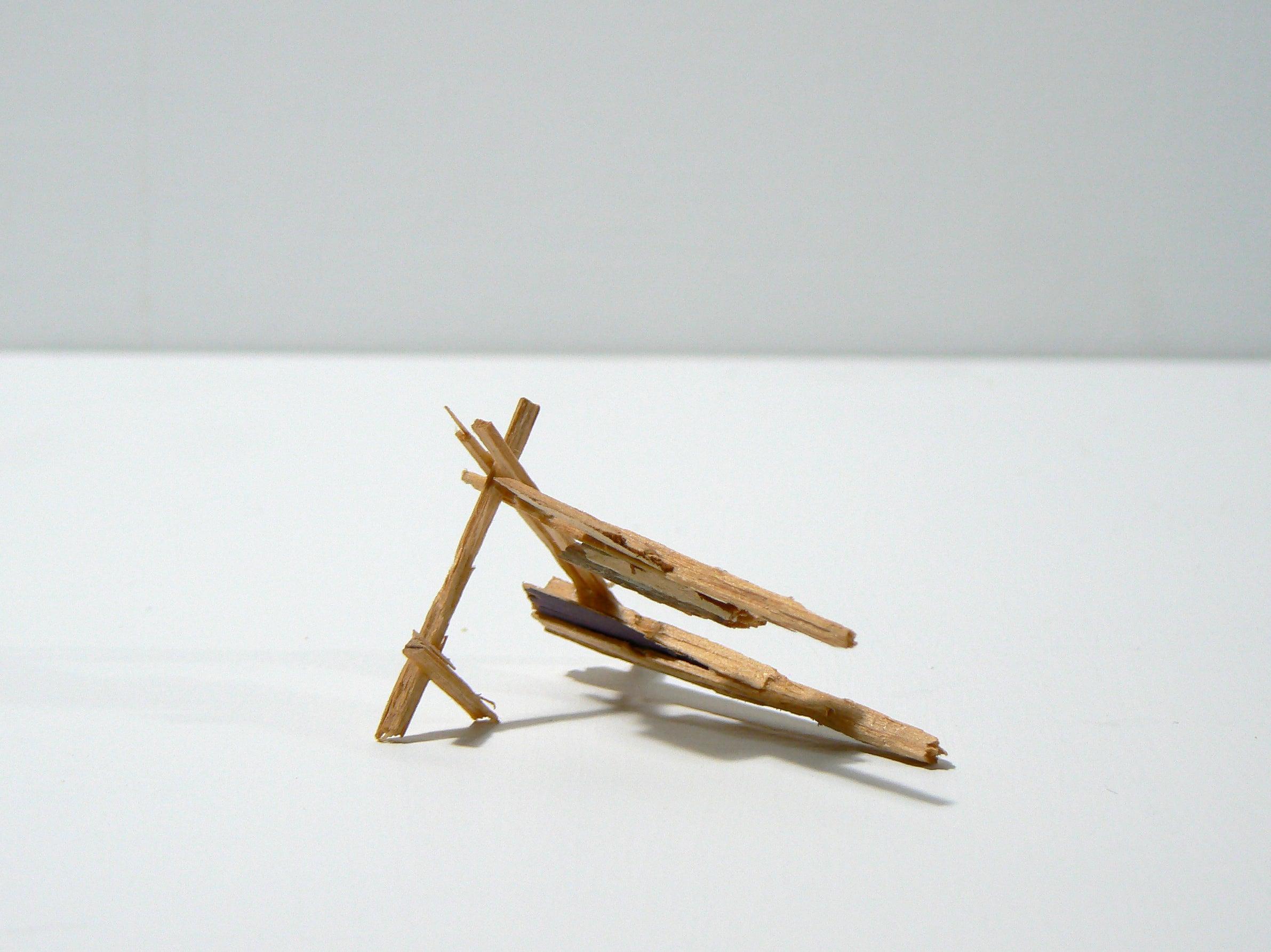 Liz Sweibel, Untitled (Splinter 2 ), 2014, Wood, Paint, Found Objects
