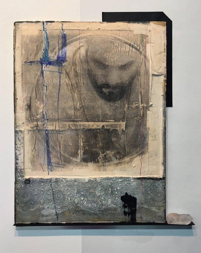 Levan Mindiashvili, 'The Color of the Sky', 2018, Enamel, Charcoal